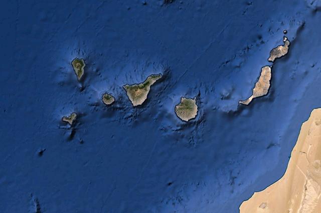 Imagen de satélite de Tenerife