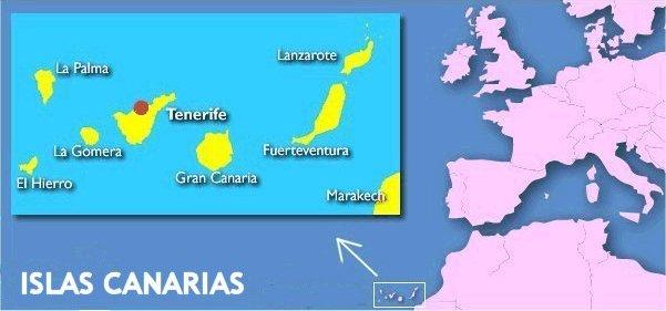 Situación de las Islas Canarias